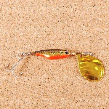 Блесна вращающаяся DAIWA Silver Creek Spinner Z 1060C H-Black/Gold (0452)