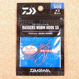 BASSER'S WORM HOOK SS SOS#2 5447
