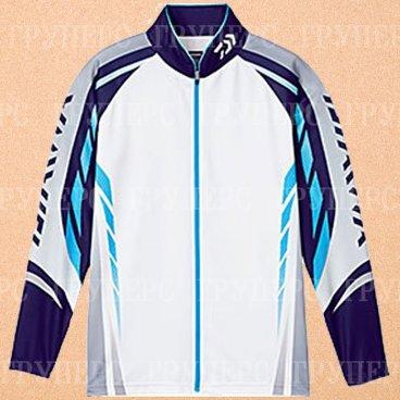 Рыболовная рубашка DAIWA Polo long sleeve Wicksensor DE-7504 Blue 2XL