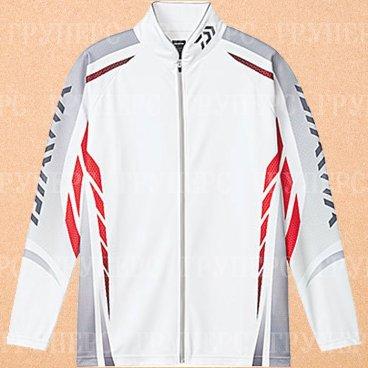 Рыболовная рубашка DAIWA Polo long sleeve Wicksensor DE-7504 White 3XL