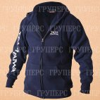 Толстовка на молнии с капюшоном синяя DAIWA Team Zipper Hooded Top Navy размер -  XXL / TDZHNY-XXL