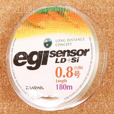 Плетеная леска DAIWA EGI Sensor LD + SI 0,8-180P 5,5kg ( 180м )