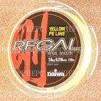 Плетеная леска DAIWA Regal Sensor -  7,5kg - 0.210мм - 150м (жёлтая)