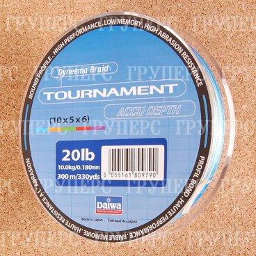 Плетеная леска DAIWA Tournament Accu dept / TN AC - 20 Lb (300м) (многоцветная)