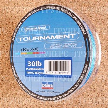 Плетеная леска DAIWA Tournament Accu dept / TN AC - 30 Lb (150м) (многоцветная)