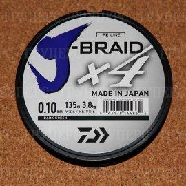 J-Braid X4 Dark Green 0.10мм 135м