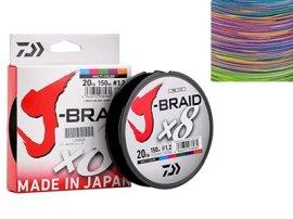 J-Braid X8 Multicolor 0.06мм 9lb 150м